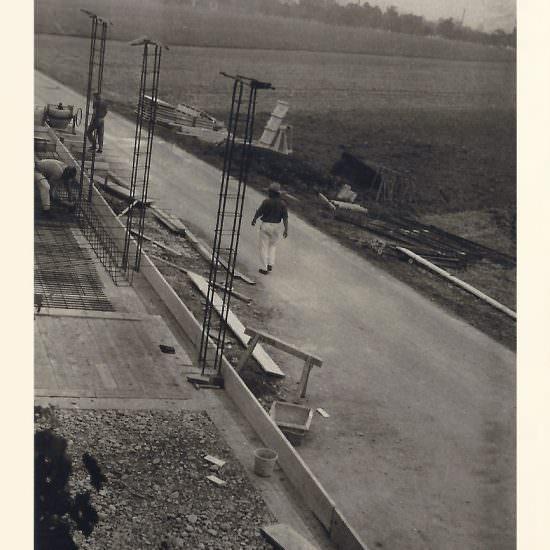 Neubau der Schreinerwerkstatt im Herbst 1969